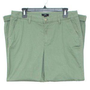 NWT J Crew Womens Pants Slim Chino Green 10 EK